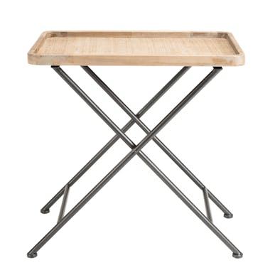 Table d'appoint salon métal et cannage BILBAO
