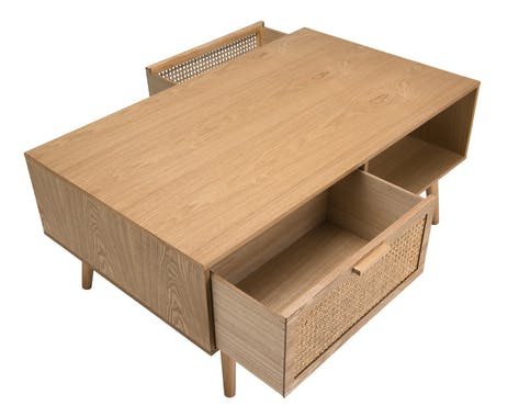 Petite table basse avec cannage PALMA