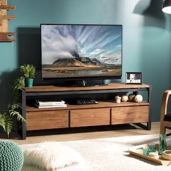Meuble tv moderne 3 tiroirs 1 niche SWING