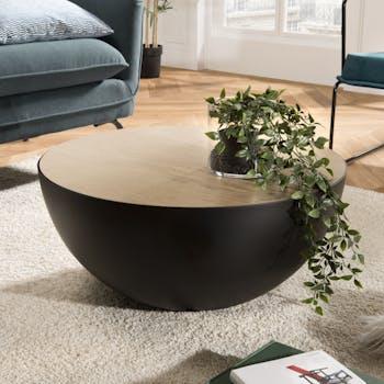 Table basse design demi-sphère BANGALORE