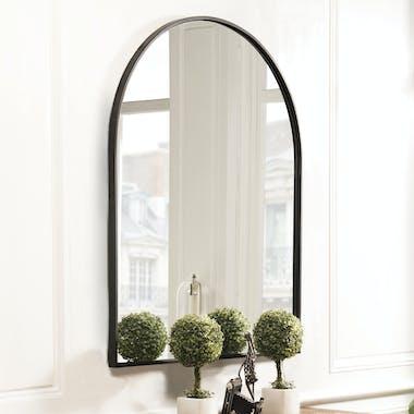 Miroir arche métal noir BANGALORE