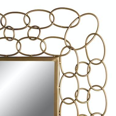Miroir vertical boucles métal doré BANGALORE