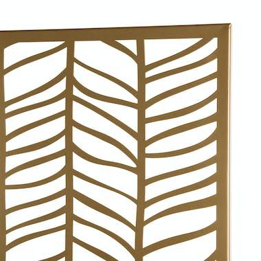 Décoration murale en métal doré feuilles BANGALORE