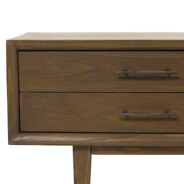 Meuble tv vintage 2 tiroirs 2 niches PADANG