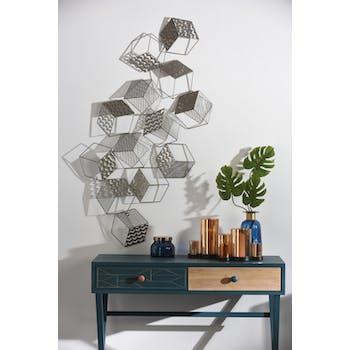 Décoration murale design cubes en suspension