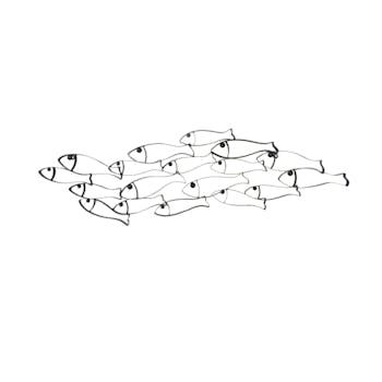 Décoration murale en métal poissons design