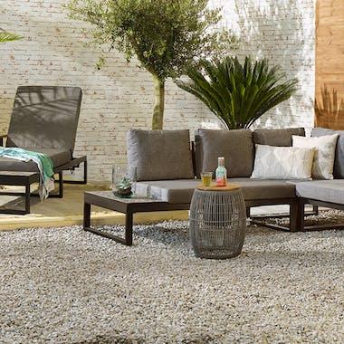 Table d'appoint de jardin grise