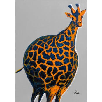 Tableau pop art girafe ballon