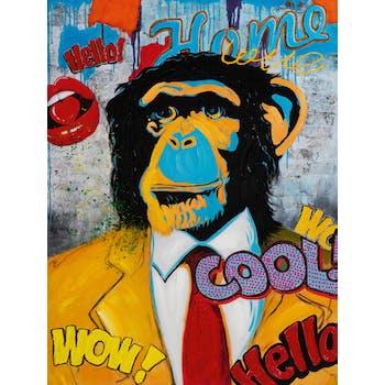 Tableau pop art singe street art