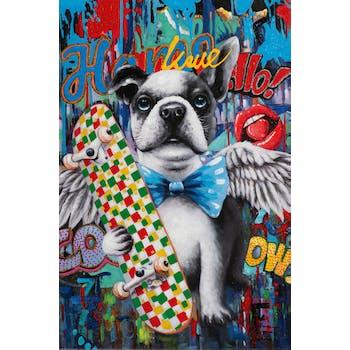 Tableau pop art chien et skate