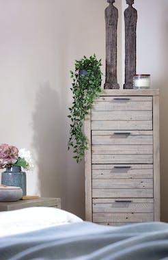 Chiffonnier bois recyclé grisé 6 tiroirs SIENNE