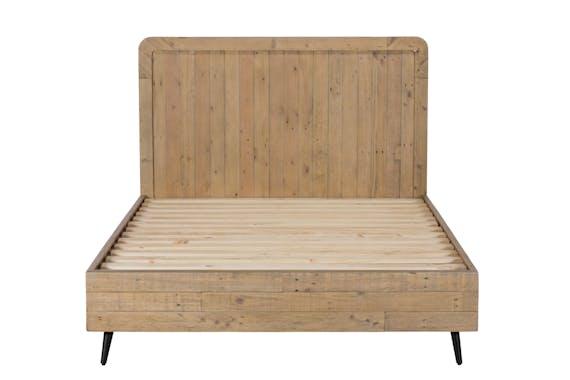 Lit 2 places bois recyclé clair 180 cm SALERNE