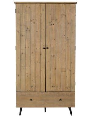 Armoire penderie bois recyclé clair SALERNE