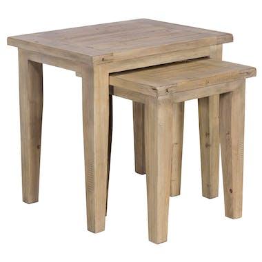 Table gigogne bois recyclé clair SALERNE