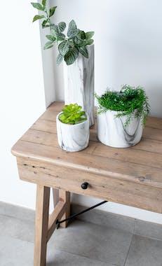 Console d'entrée bois recyclé clair SALERNE