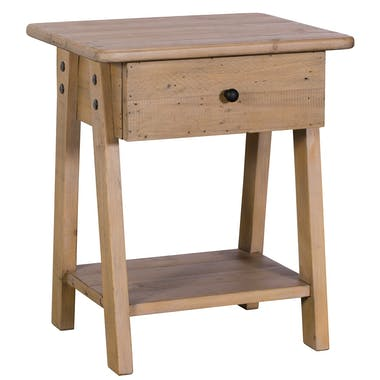Bout de canapé bois recyclé clair SALERNE