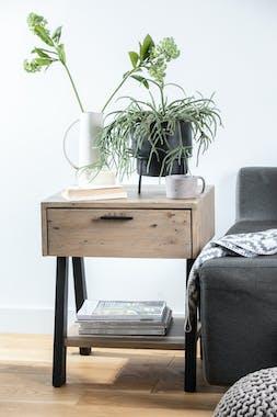 Bout de canapé bois recyclé VITTORIA