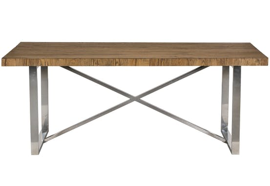 Table à manger moderne chêne acier 200 cm RIVERSIDE