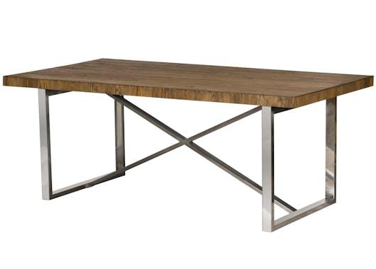 Table à manger moderne chêne acier 240 cm RIVERSIDE