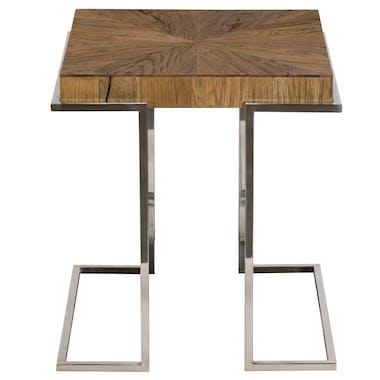 Bout de canapé bois de chêne acier RIVERSIDE