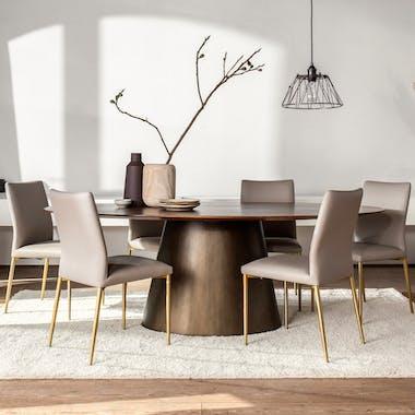 Table à manger ronde bois de manguier 152,5 cm FENI
