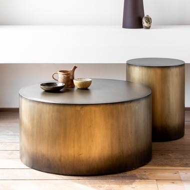 Table basse ronde bois de manguier FENI