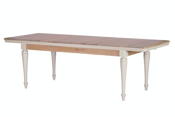 Table extensible grise chêne et pin 180-240 cm PORTLAND