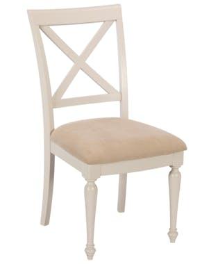 Chaise grise rembourrée bois de pin (lot de 2) PORTLAND