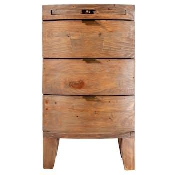 Table de chevet en bois recyclé BELFAST