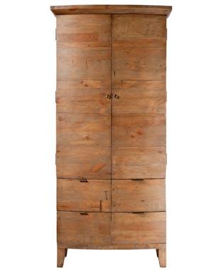 Armoire penderie en bois recyclé 89 cm BELFAST