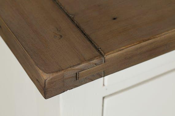 Meuble TV blanc bois recyclé BRISTOL