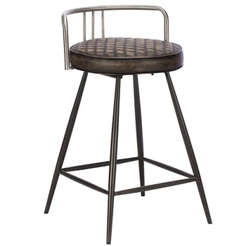 Tabouret de bar industriel brun BRISBANE