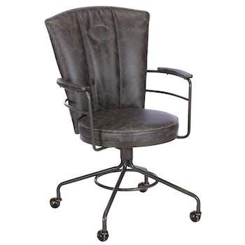Chaise de bureau industrielle grise BRISBANE