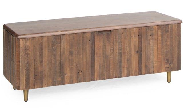 Bout de lit coffre bois recyclé brun QUEENSTOWN