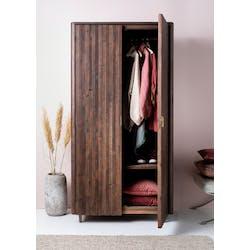 Armoire penderie bois recyclé brun QUEENSTOWN