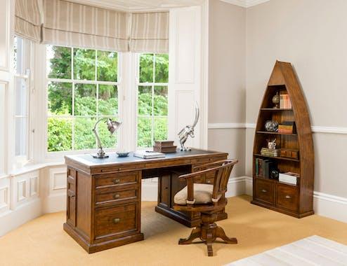 Chaise de bureau pivotante en bois recyclé OXFORD
