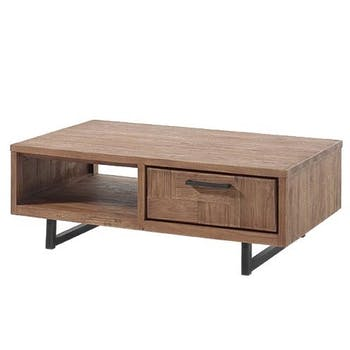 Table basse en teck 2 tiroirs BALI