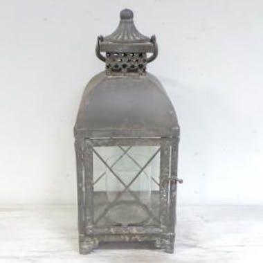 Lanterne métal vieilli croisillons