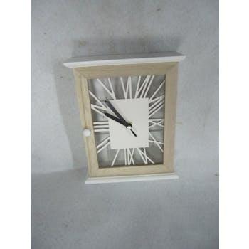 Horloge boîte à clés bois