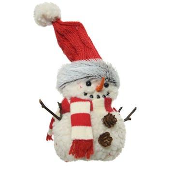 Bonhomme de neige peluche de Noël 15 cm
