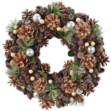 Couronne de Noël perlée D 35 cm