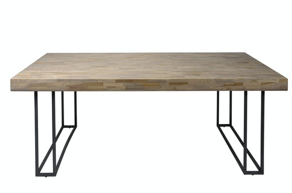 Table à manger teck recyclé métal 240 cm JAVA