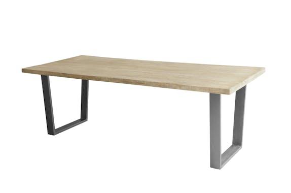 Table à manger contemporaine bois métal 230 cm LUCKNOW