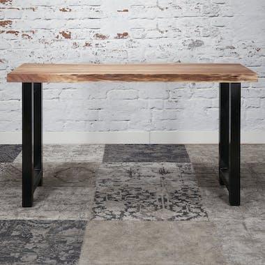 Table bar bois massif métal 150 cm MELBOURNE