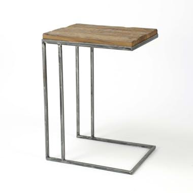 Table d'appoint bois recyclé acier OMSK