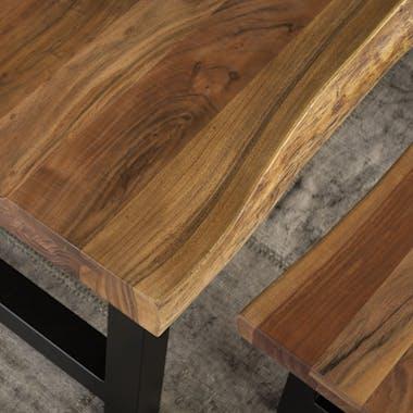 Table à manger bois massif métal 240 cm MELBOURNE