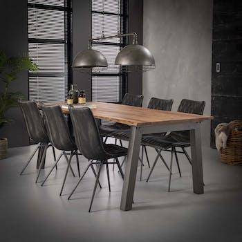 Table à manger bois massif 210 cm MELBOURNE