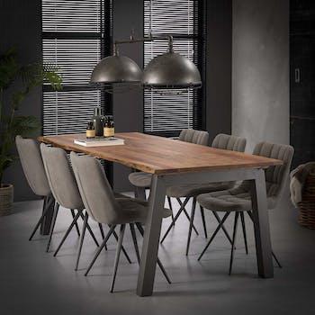Table à manger bois massif 240 cm MELBOURNE