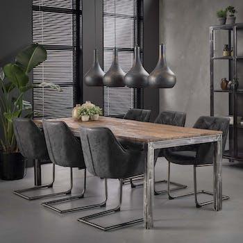 Table à manger vintage bois recyclé 180 cm OMSK