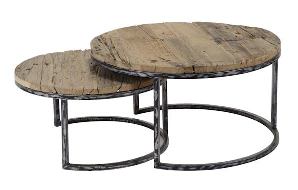 Table de salon gigogne ronde (2 pièces) OMSK
